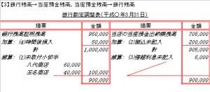 銀行勘定調整表2
